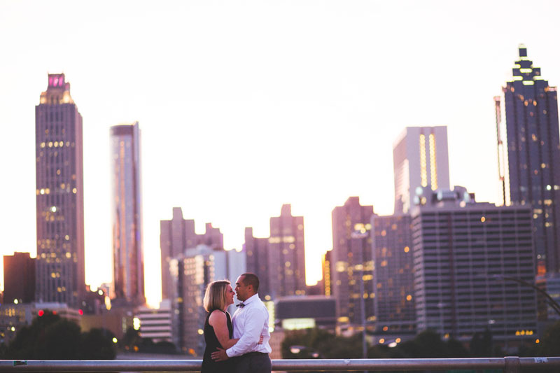 Atlanta Skyline Engagement