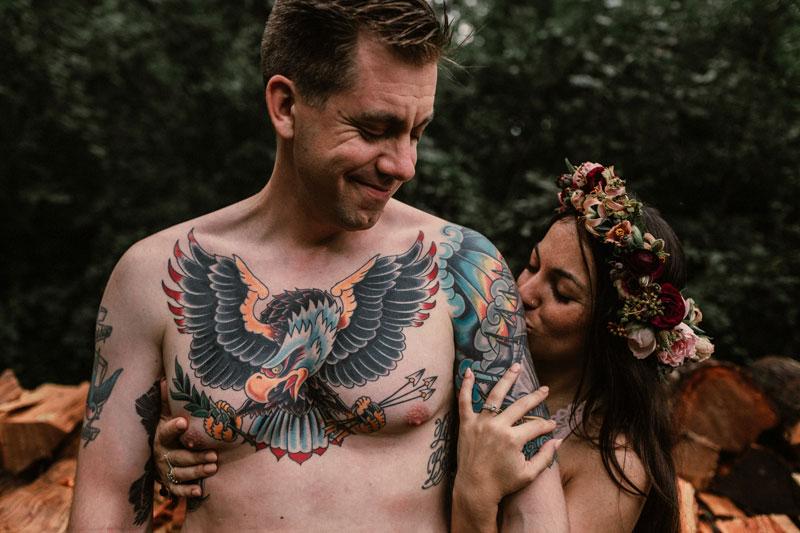 chest tattoo engagement