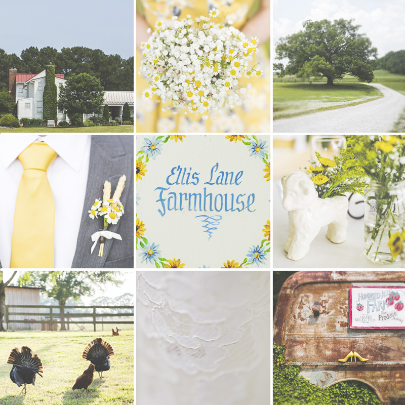 Farm House Inn Wedding with Yellow