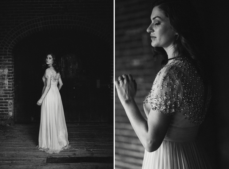 bride in Jenny Packham dress