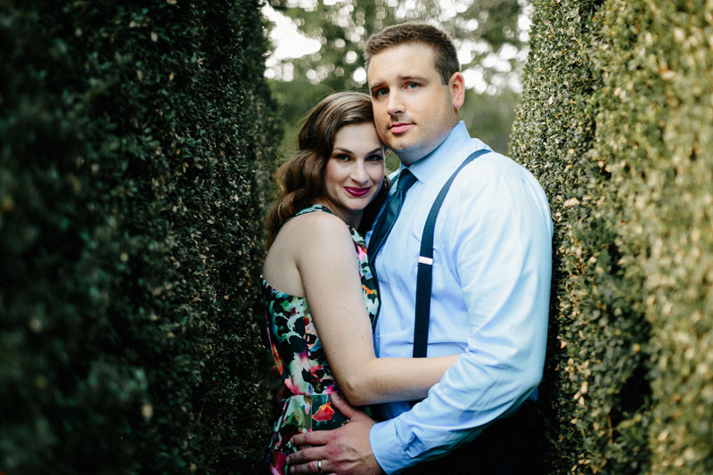 black tie engagement at barnsley gardens
