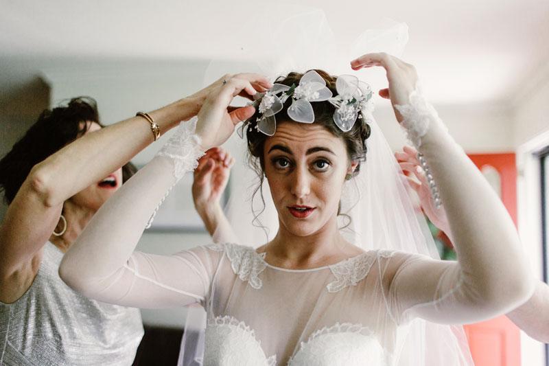 vintage veil wedding