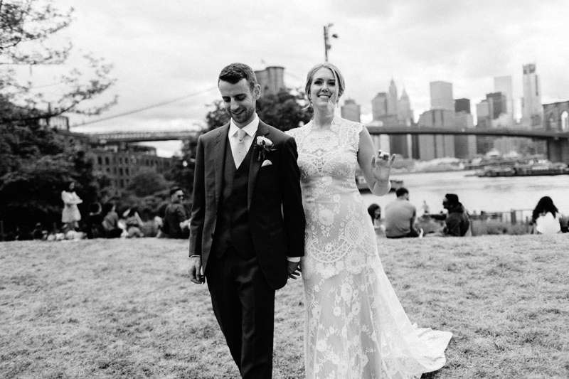 NYC Skyline Wedding Photos