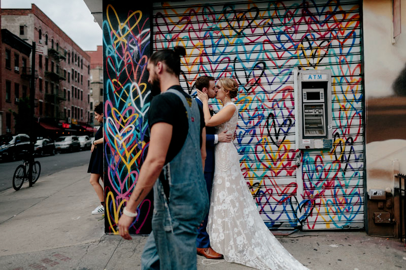 graffiti wedding photos NYC