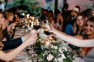 toasts at a wedding